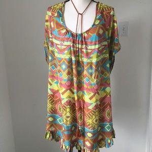Uncle Frank Boho Aztec Print Dress / Size XL